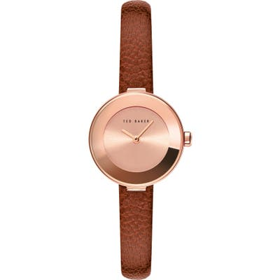 Ted Baker London Lenara Leather Strap Watch, 2m