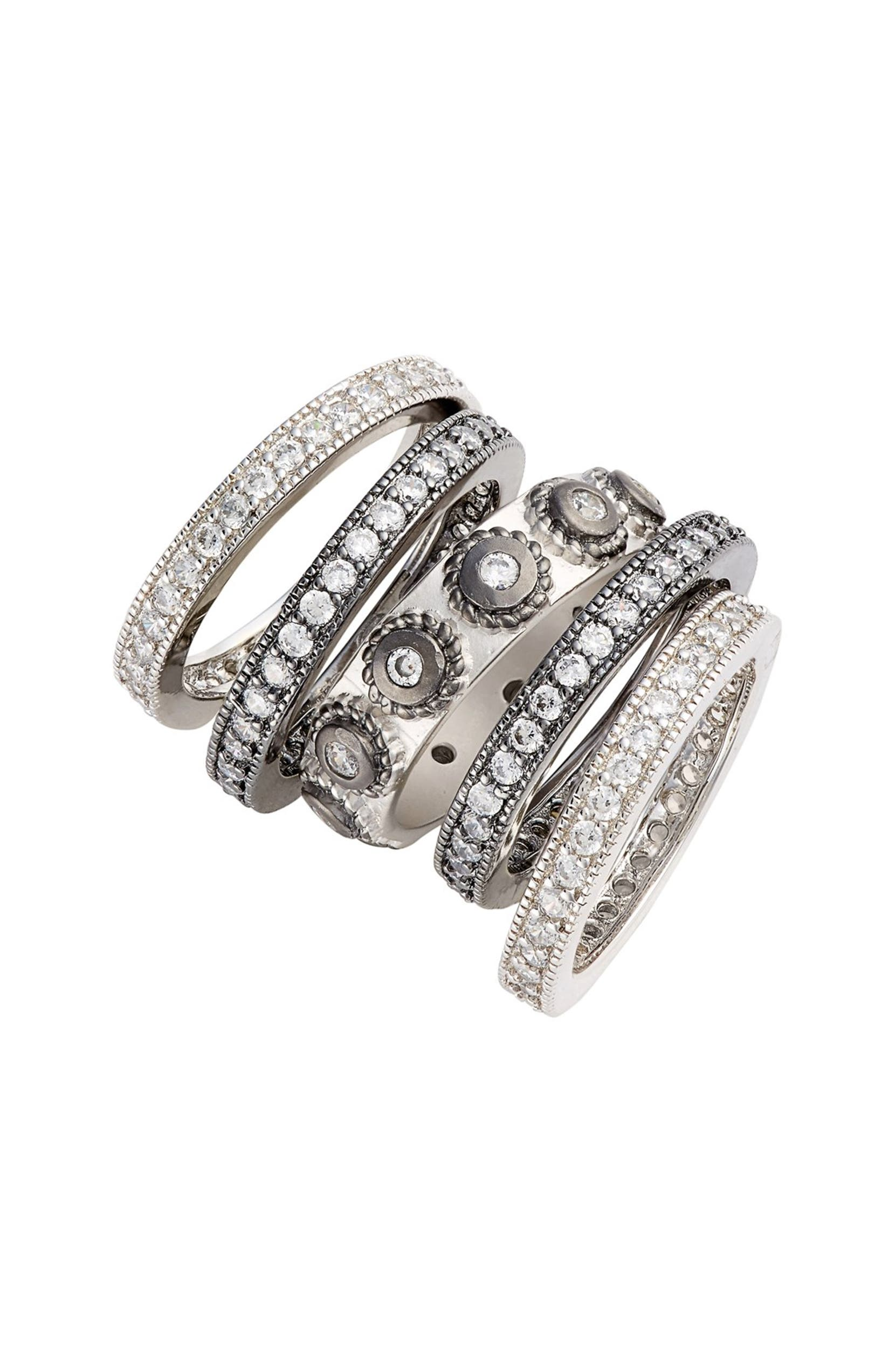 b006a917c1f72 'Contemporary Deco' Stacking Rings
