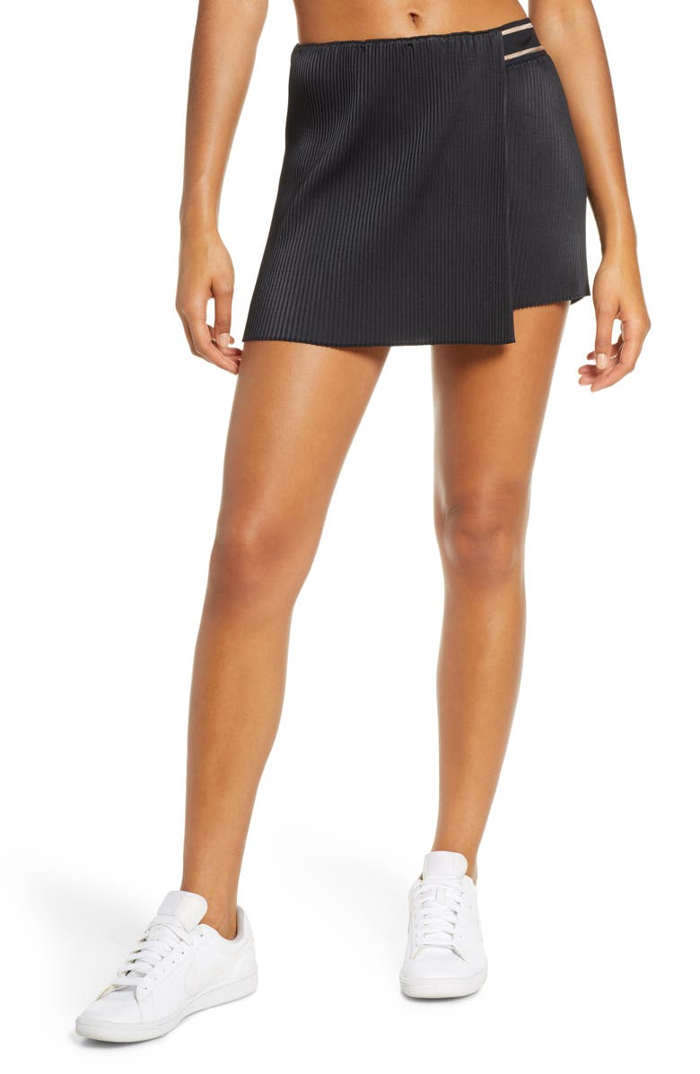 NIKE Court Slam Victory Tennis Skirt, Main, color, BLACK/ BLACK