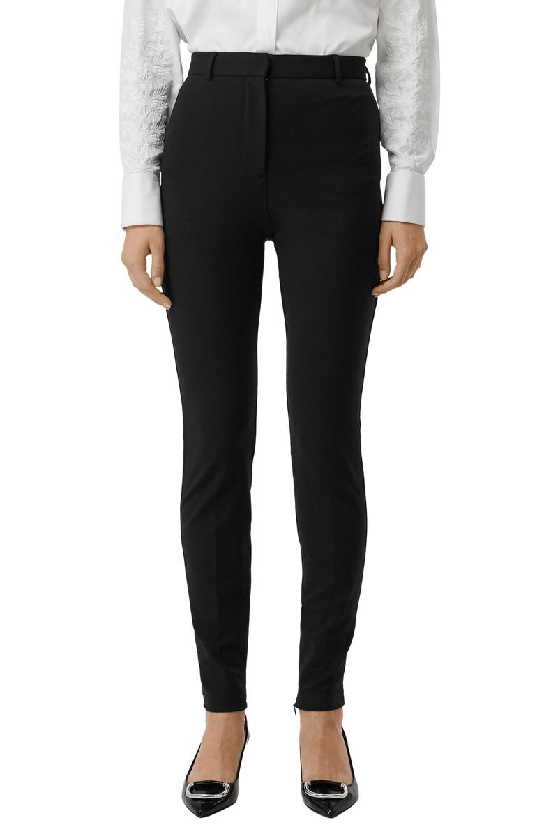 BURBERRY Kirkby Skinny Pants, Main, color, 001