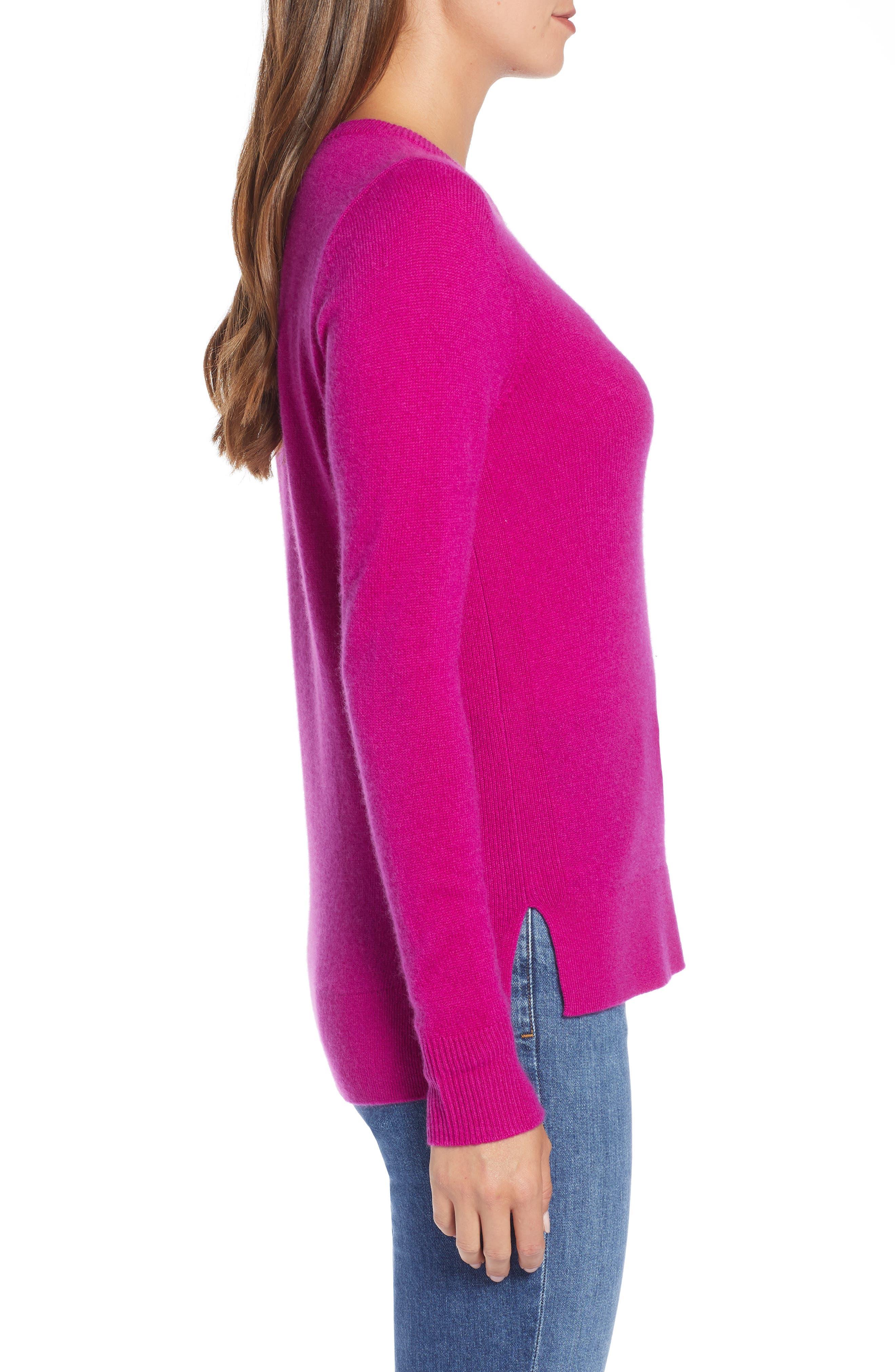 ,                             Crewneck Cashmere Sweater,                             Alternate thumbnail 174, color,                             652