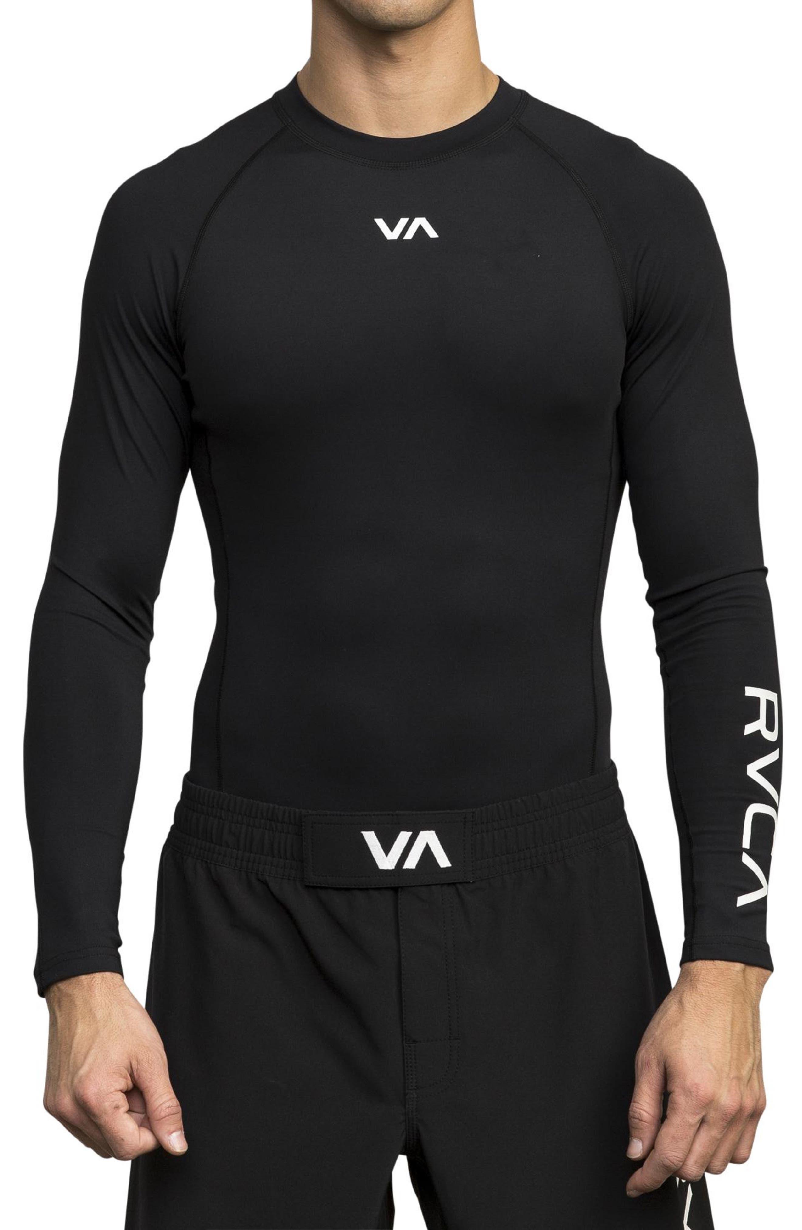 Rvca Va Long Sleeve Compression T-Shirt, Black