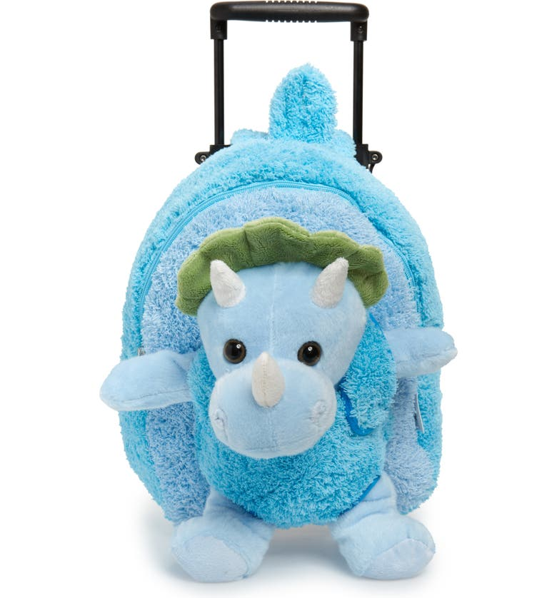 POPATU Dinosaur Trolley Backpack, Main, color, BLUE