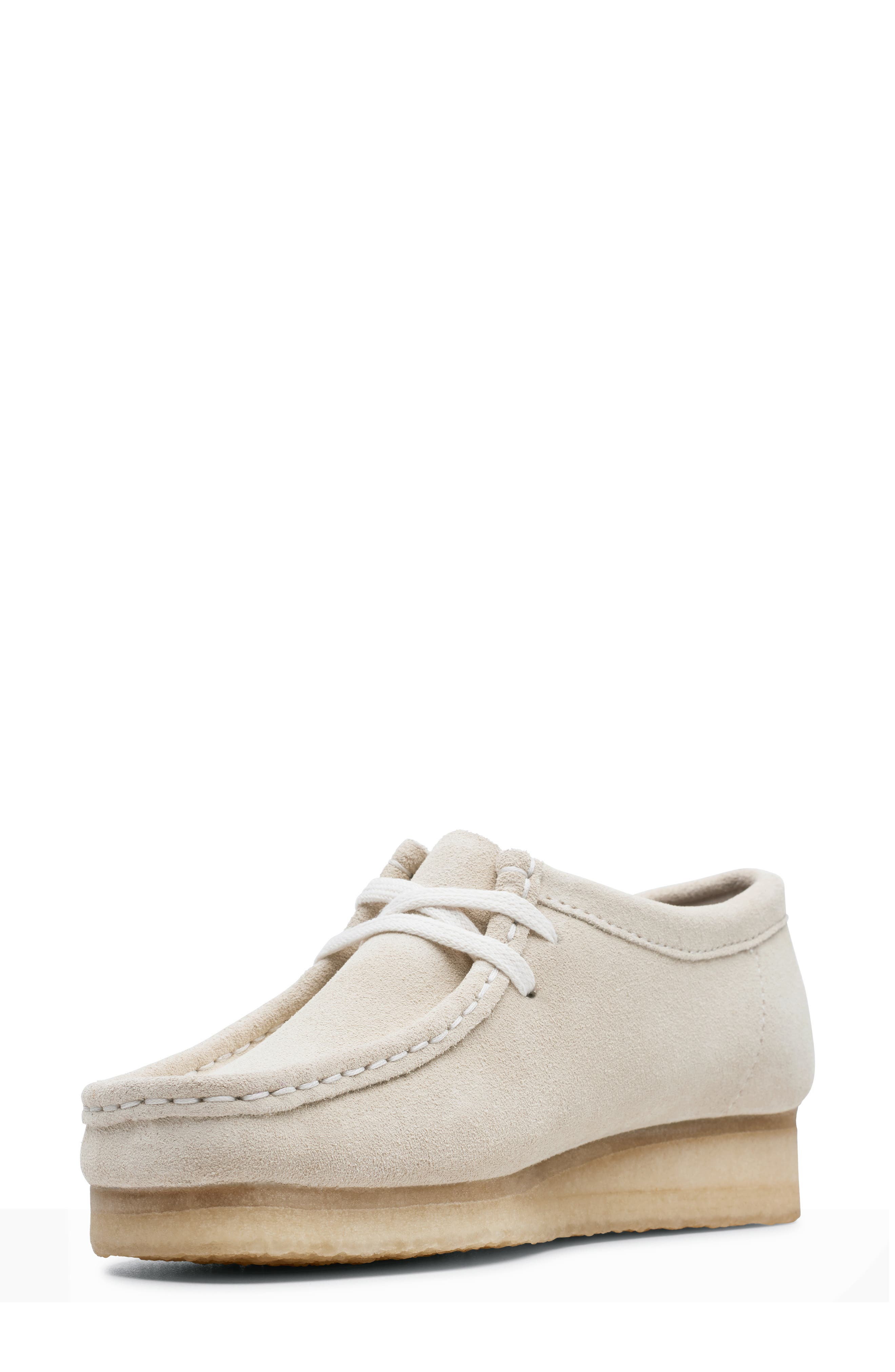 ,                             Wallabee Chukka Boot,                             Alternate thumbnail 5, color,                             OFF WHITE SUEDE
