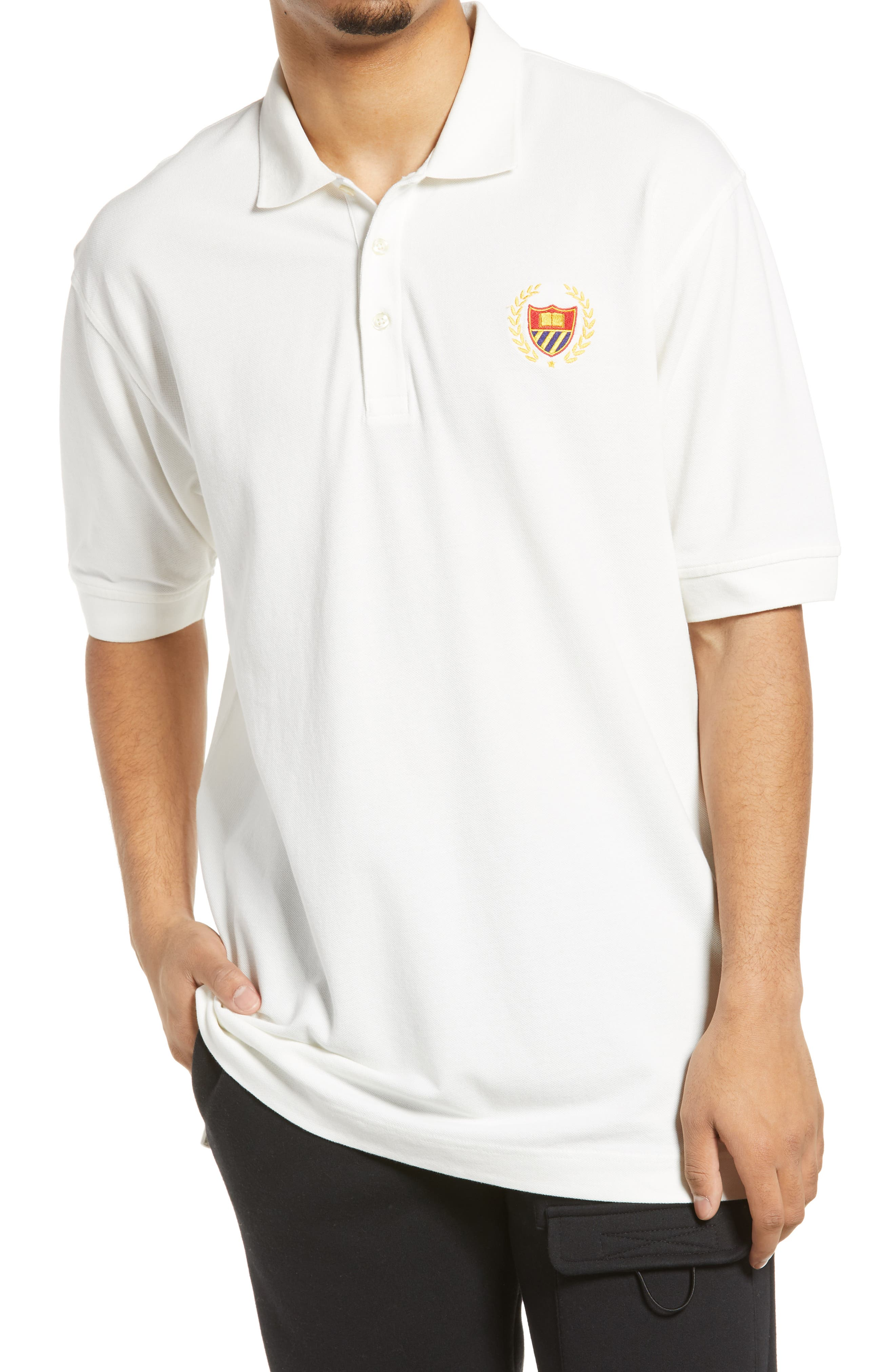 Men's Crest Embroidered Polo