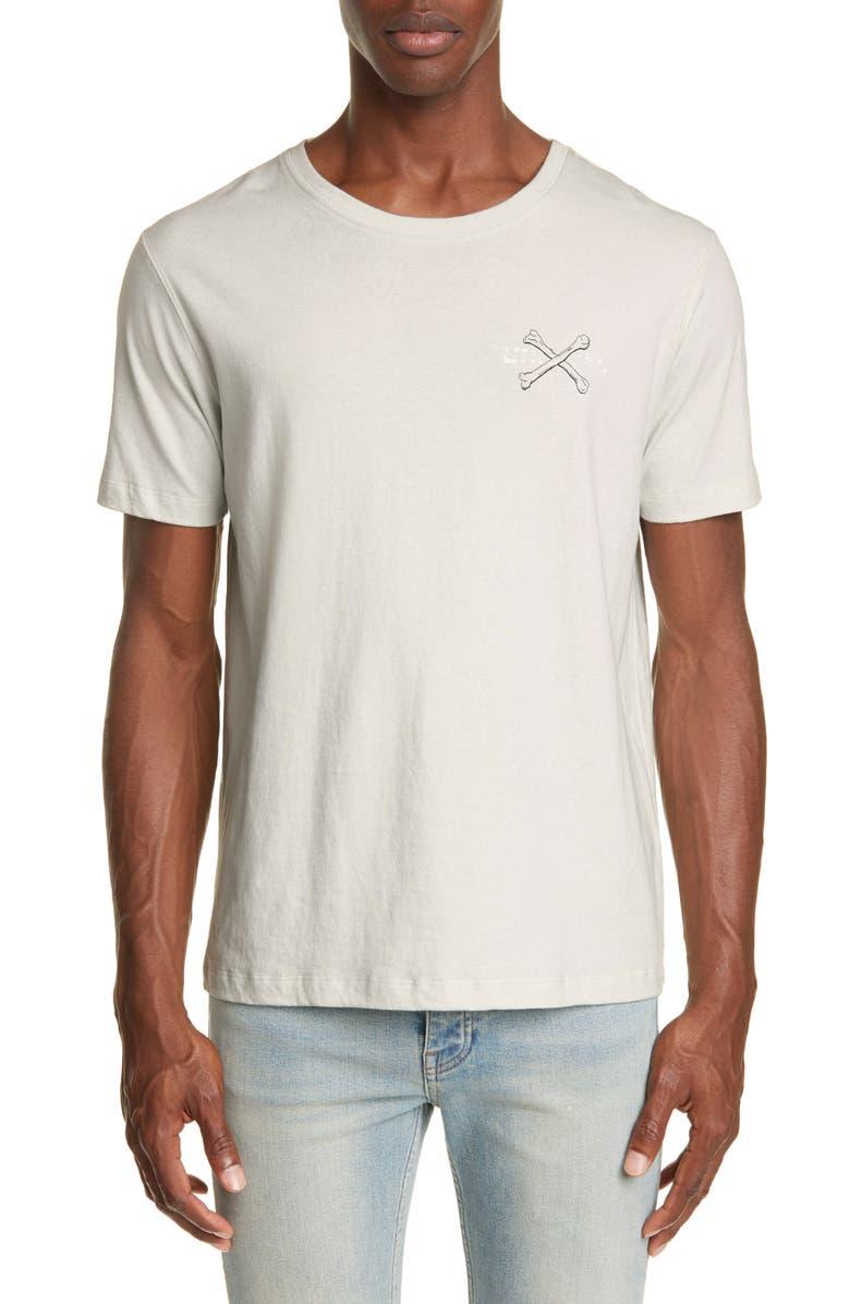UNRAVEL PROJECT Bones Vintage Graphic T-Shirt, Main, color, LIGHT GREY