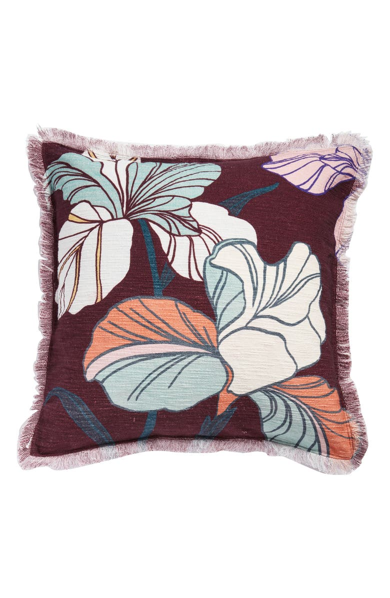 NORDSTROM AT HOME Bold Floral Accent Pillow, Main, color, 930