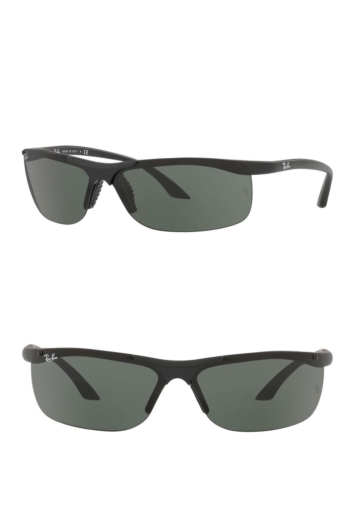 Image of Ray-Ban 68mm Rectangular Sunglasses