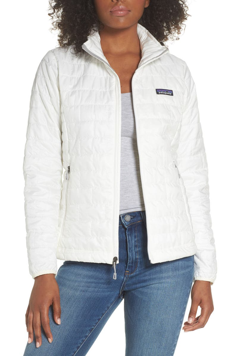 PATAGONIA Nano Puff<sup>®</sup> Water Resistant Jacket, Main, color, BIRCH WHITE
