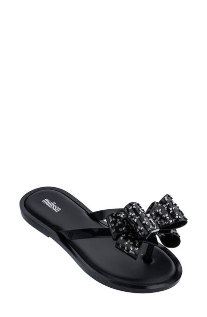 Melissa Sweet Flip Flop In Black