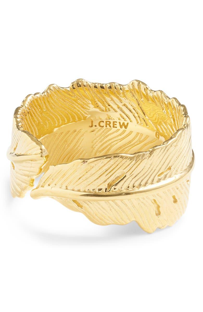 J.CREW Demi Leaf Wrap Ring, Main, color, 710