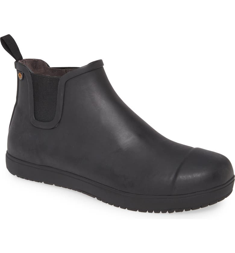 BOGS Overcast Waterproof Chelsea Boot, Main, color, BLACK