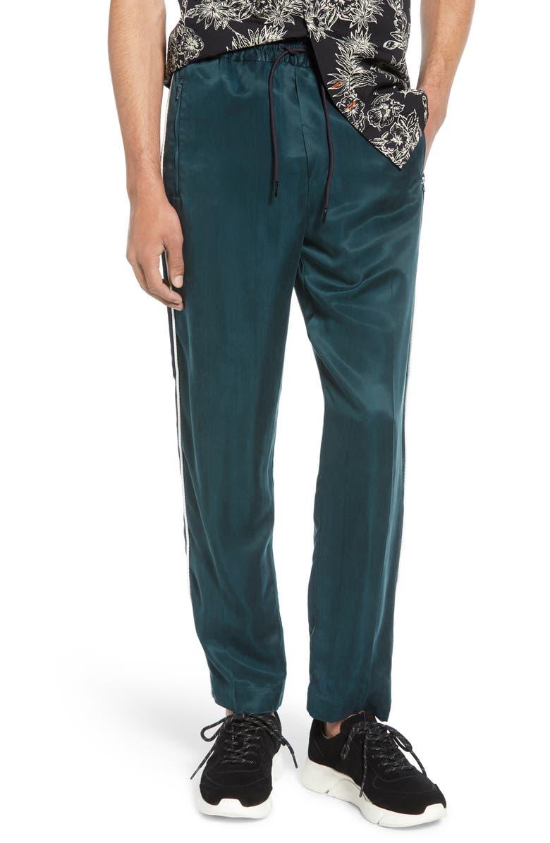 SCOTCH & SODA Satin Track Pants, Main, color, AMALFI GREEN
