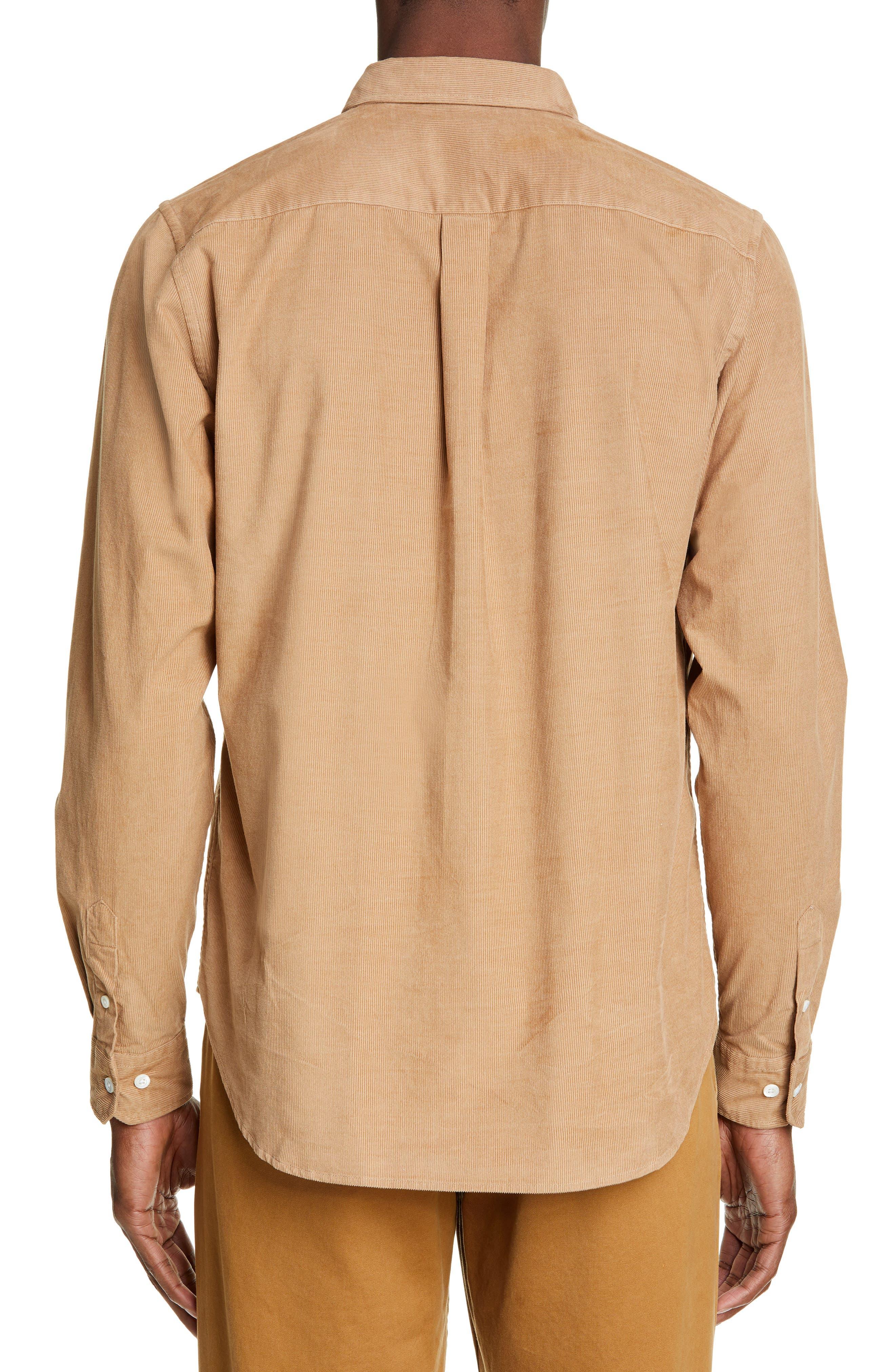 ,                             Osvald Corduroy Shirt,                             Alternate thumbnail 3, color,                             UTILITY KHAKI