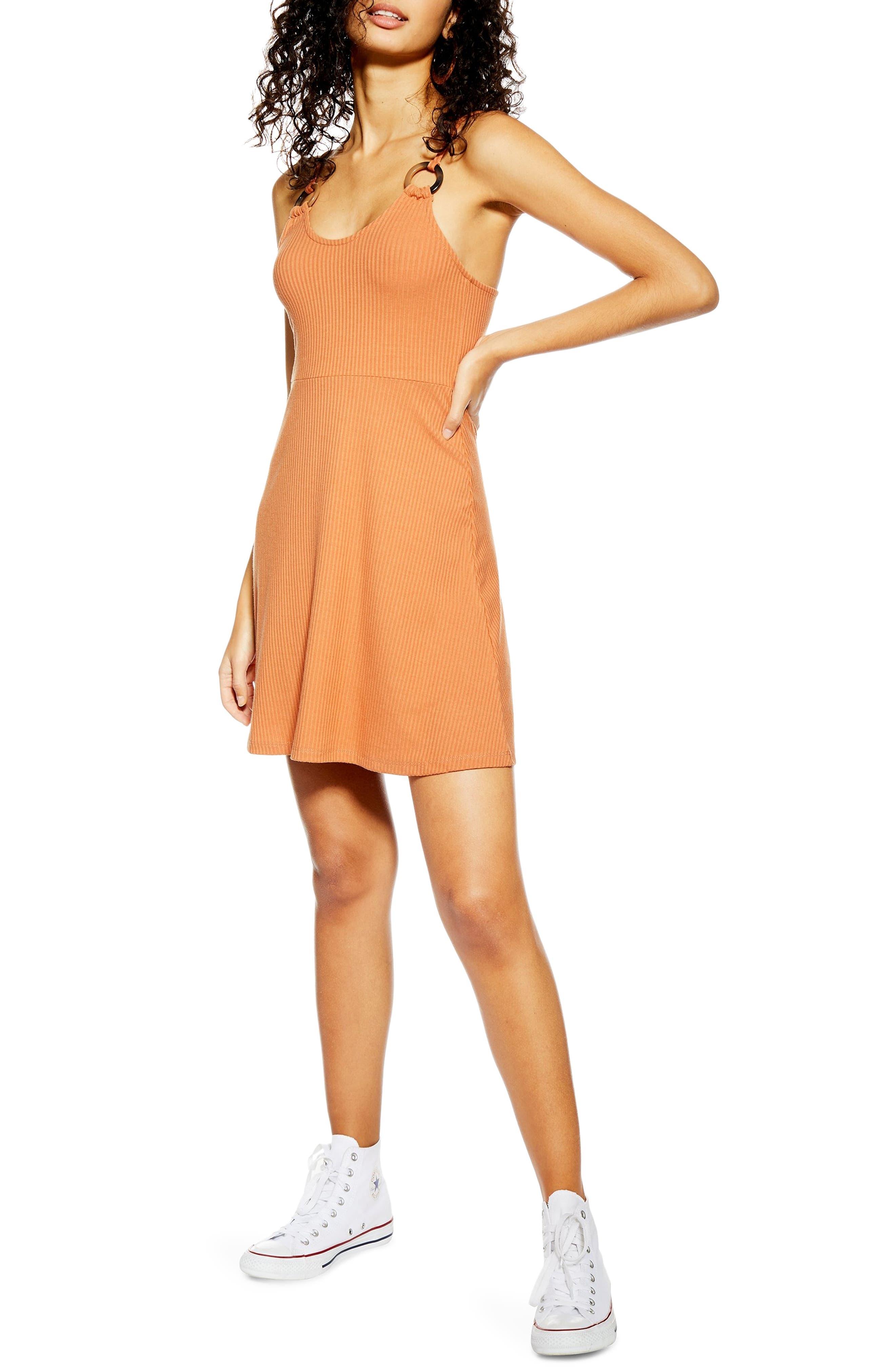 Topshop Rib Knit Dress, US (fits like 14) - Brown