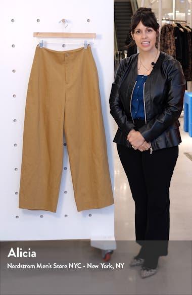 High Waist Cotton & Linen Utility Pants, sales video thumbnail