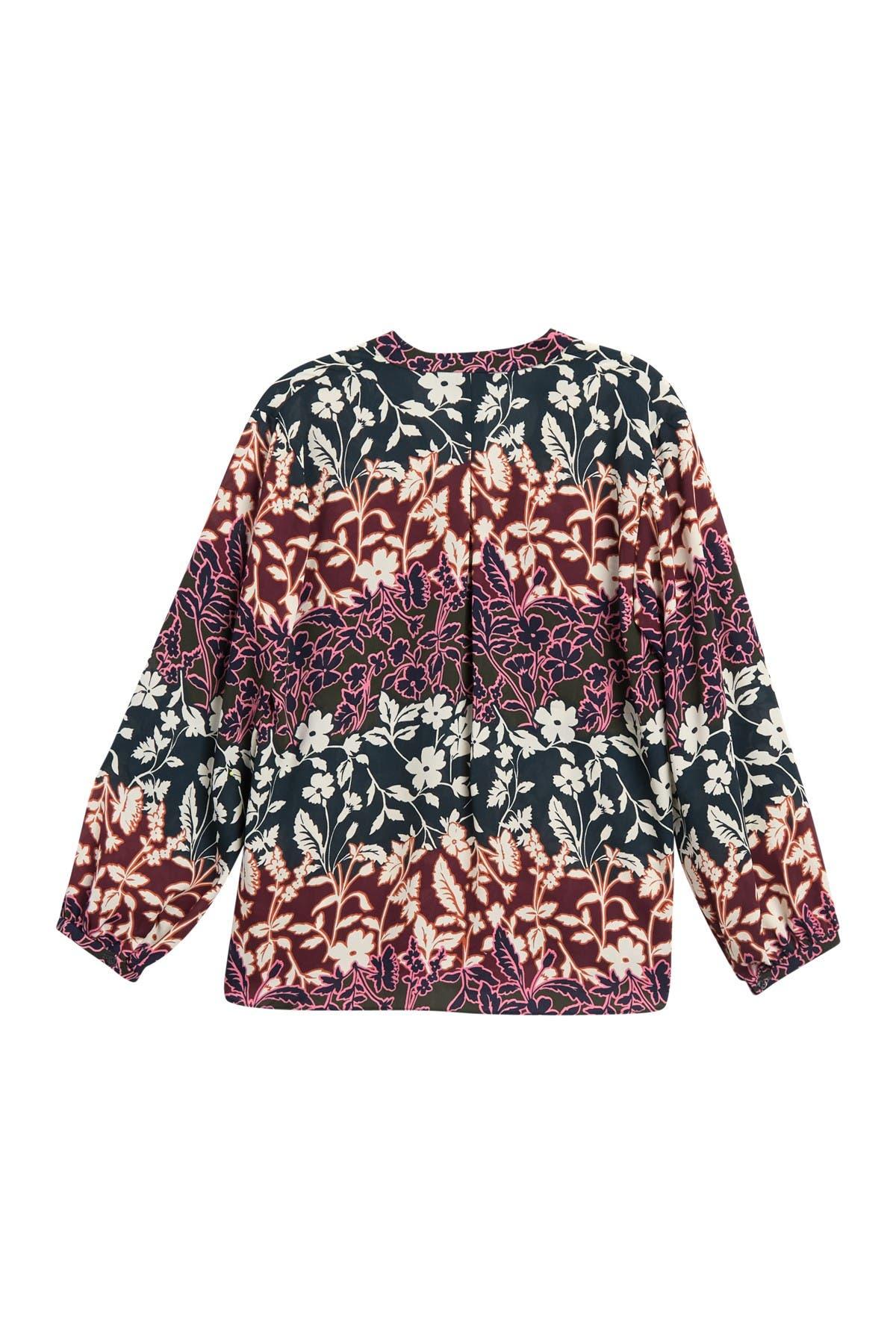 Image of Rachel Rachel Roy Elle Floral Long Sleeve Blouse