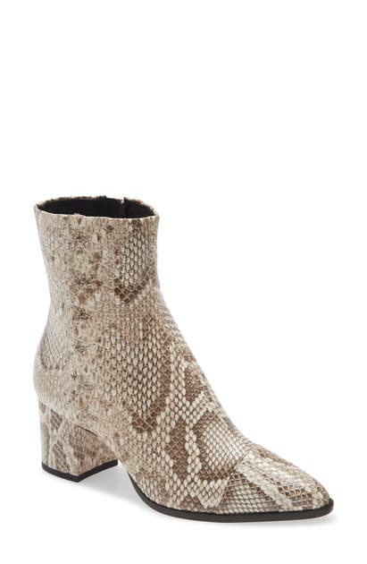 Alexandre Birman RACHEL GENUINE PYTHON POINTED TOE BOOTIE