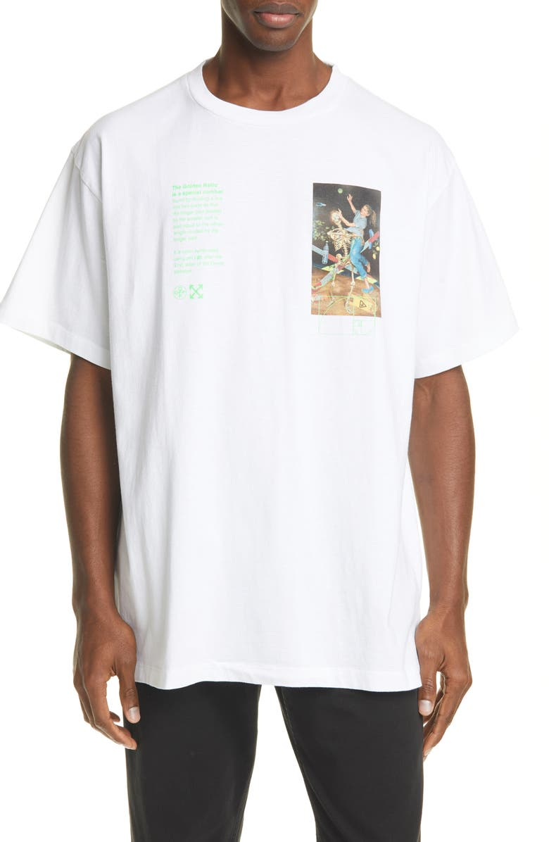 OFF-WHITE Pascal Painting Tee, Main, color, WHITE MULTI