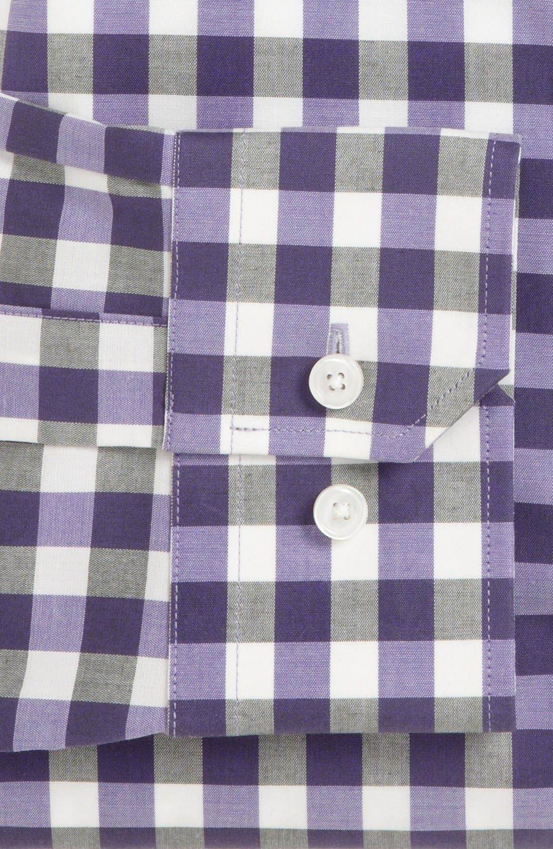 ,                             Slim Fit Non Iron Gingham Dress Shirt,                             Alternate thumbnail 22, color,                             541