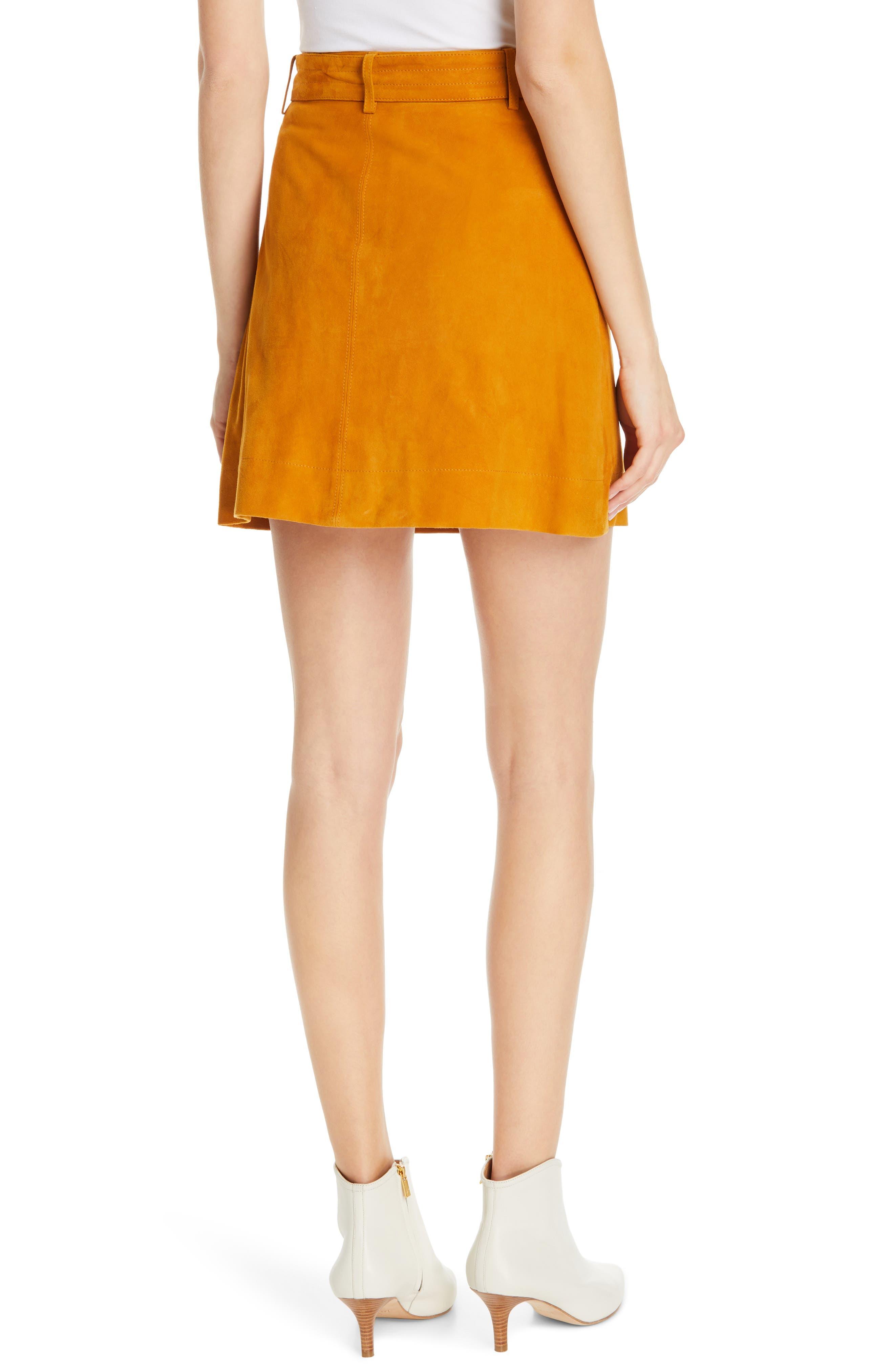 ,                             Neida Suede Miniskirt,                             Alternate thumbnail 8, color,                             800