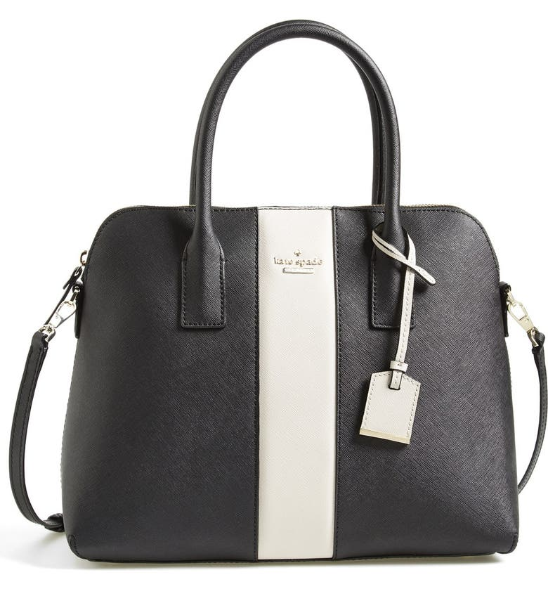 KATE SPADE NEW YORK 'cameron street - stripe margot' satchel, Main, color, 001