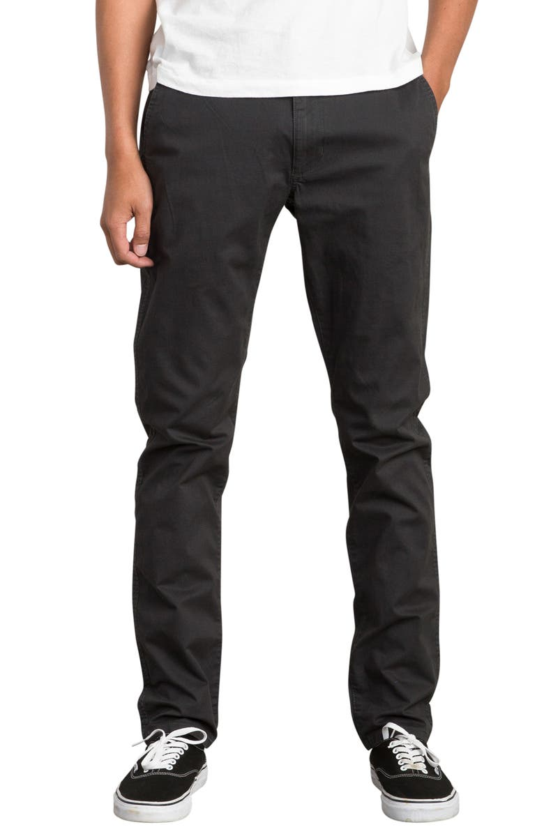 RVCA Daggers Slim Chinos, Main, color, 008