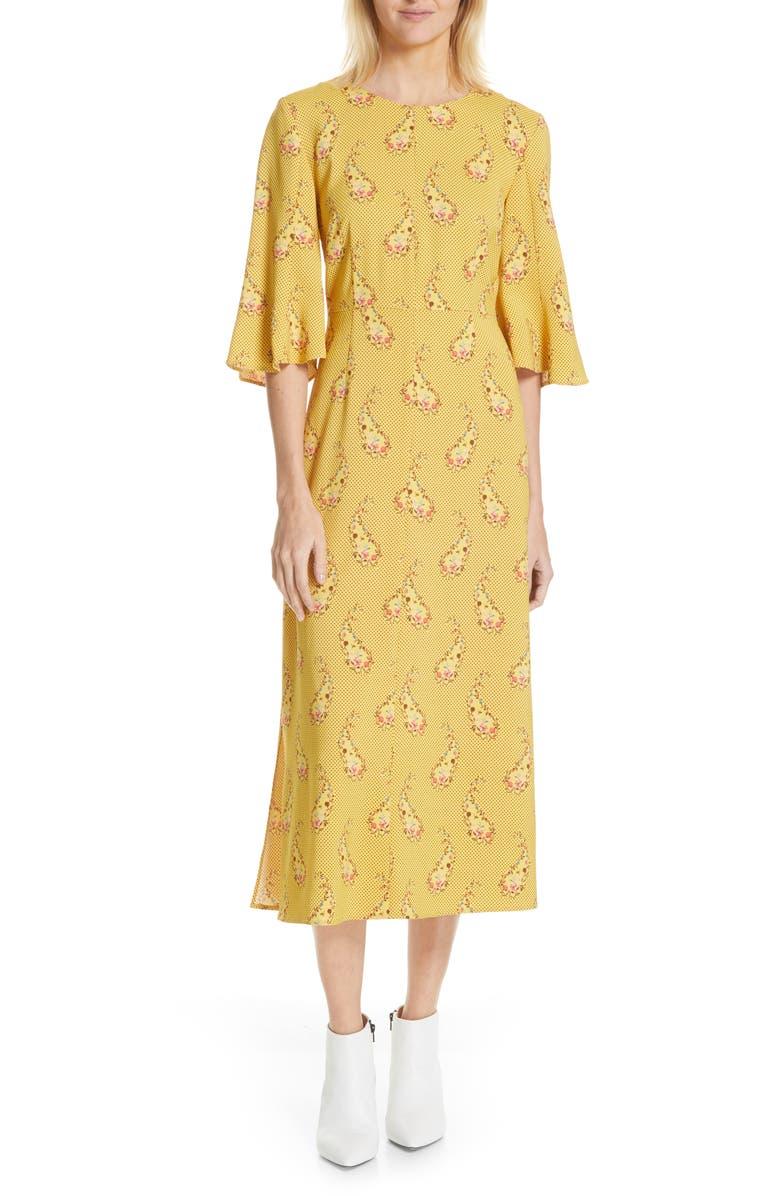 STINE GOYA Kirsten Paisley Midi Dress, Main, color, PAISLEY