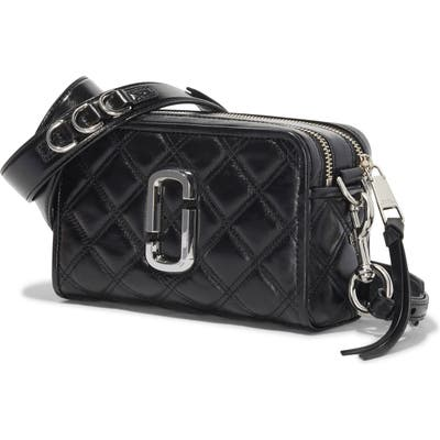 The Marc Jacobs The Softshot 21 Quilted Leather Crossbody Bag - Black
