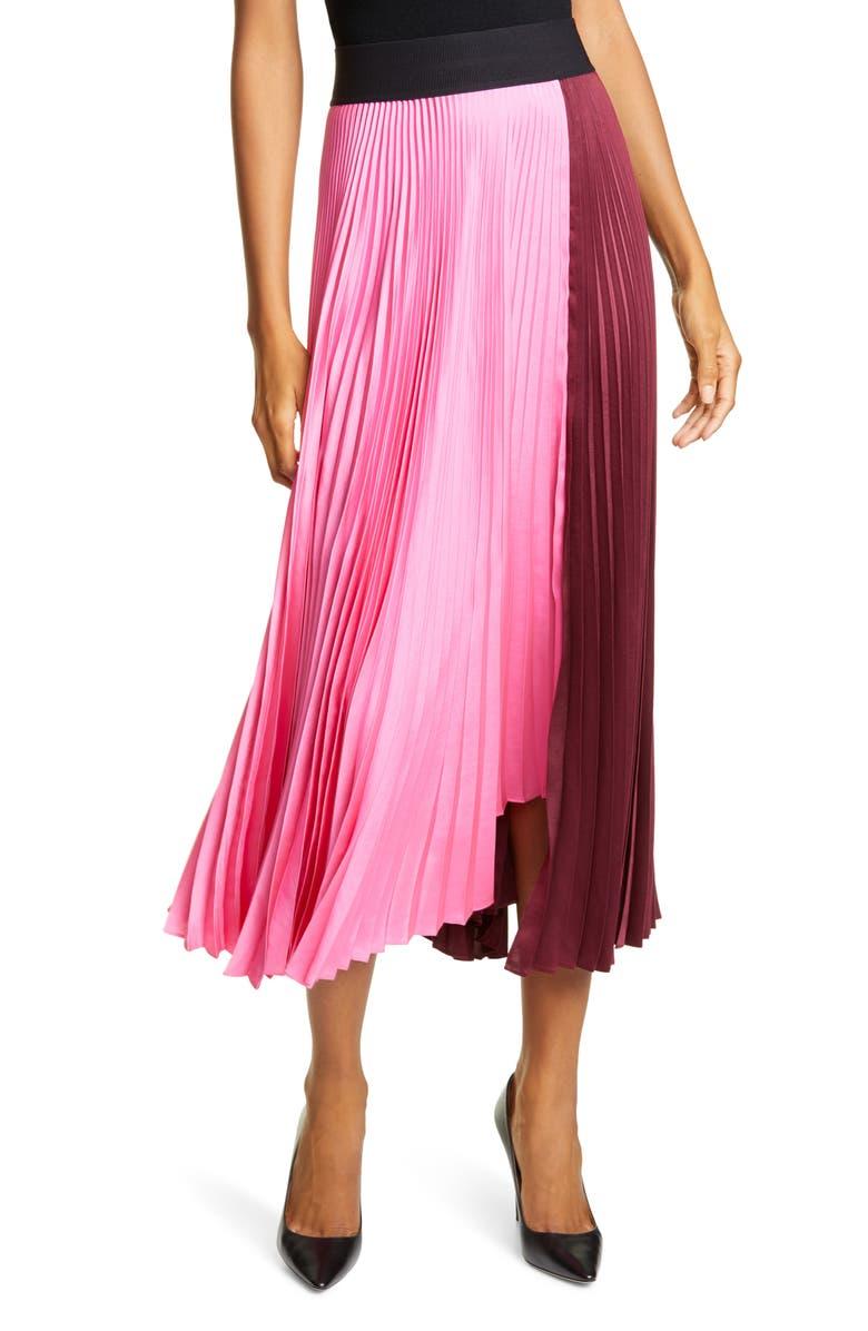 A.L.C. Grainger Asymmetrical Pleated Midi Skirt, Main, color, 610
