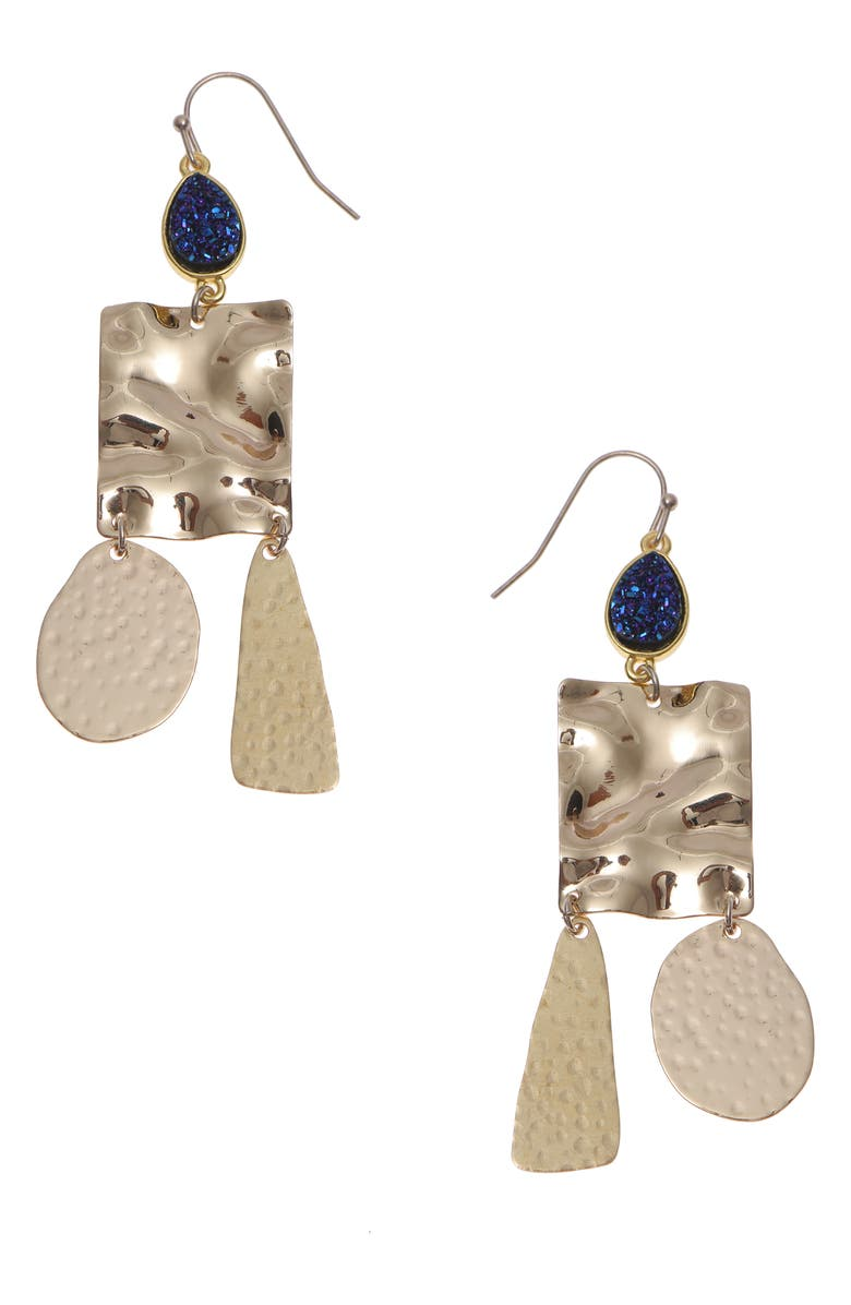 NAKAMOL CHICAGO Medallion Drop Earrings, Main, color, GOLD