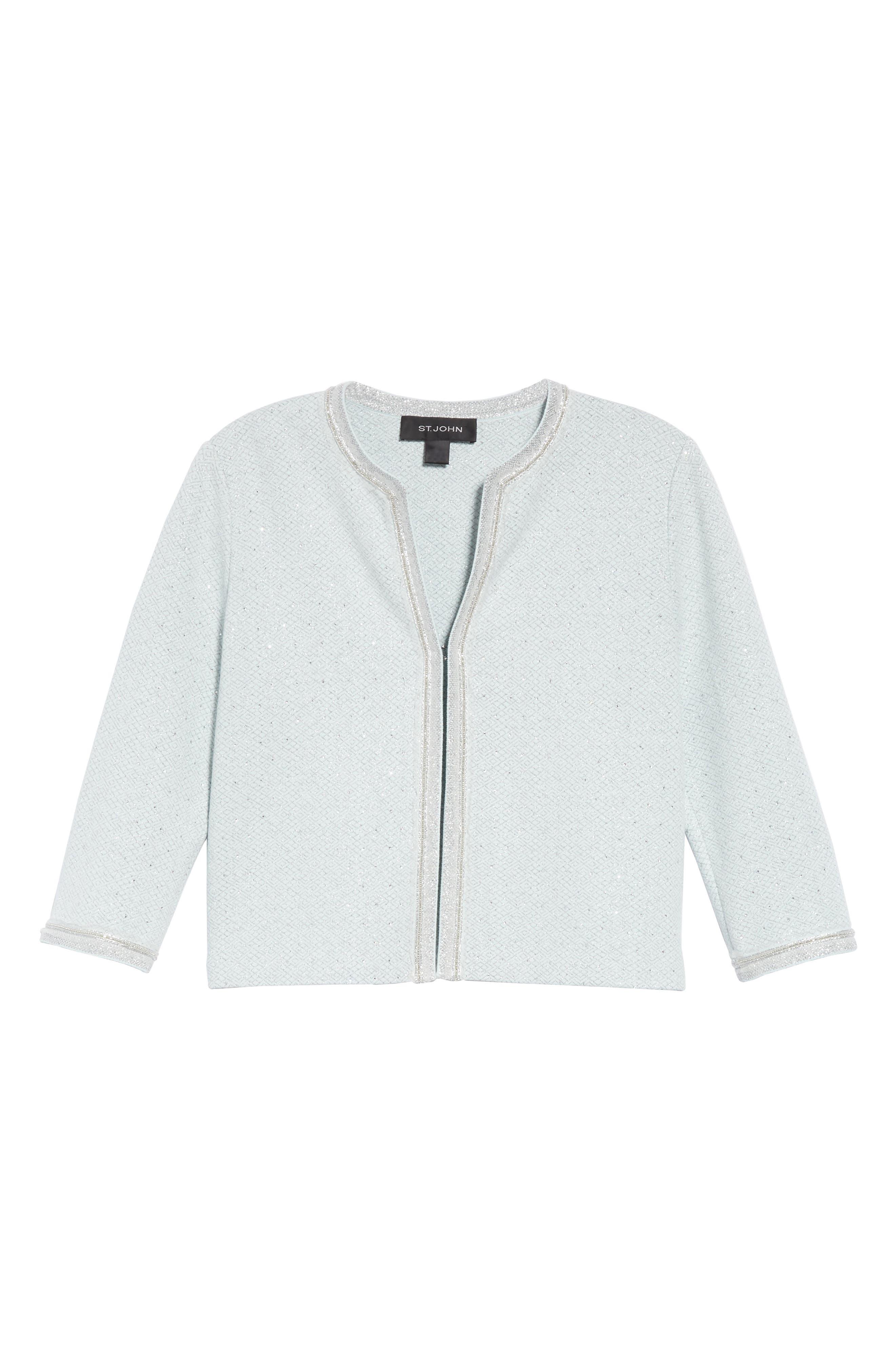 ,                             Anya Knit Jacket,                             Alternate thumbnail 7, color,                             OPAL/ SILVER