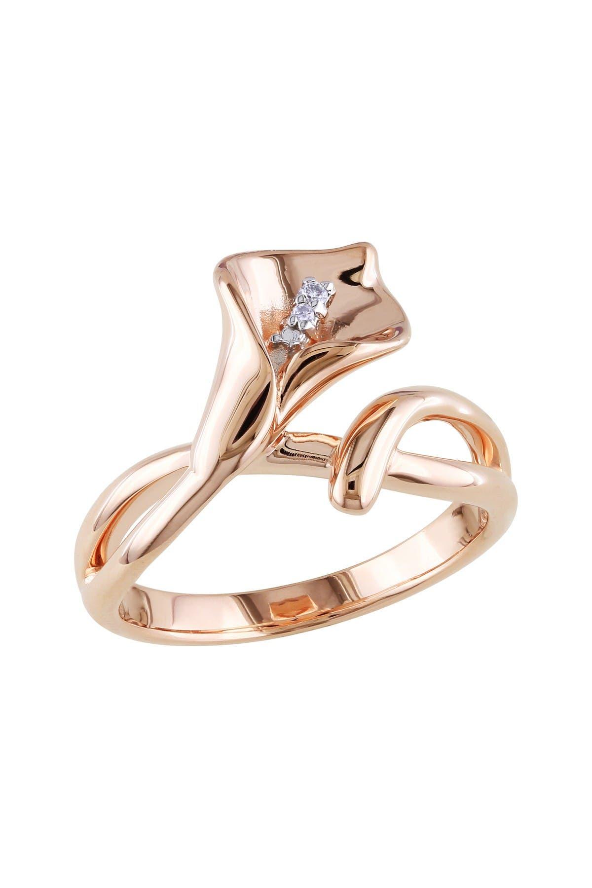 Image of Delmar Diamond Calla Lily Ring - 0.01 ctw