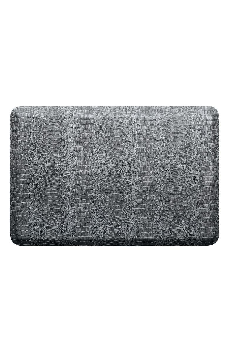 WELLNESSMATS Croc Embossed Antifatigue Floor Mat, Main, color, SLATE