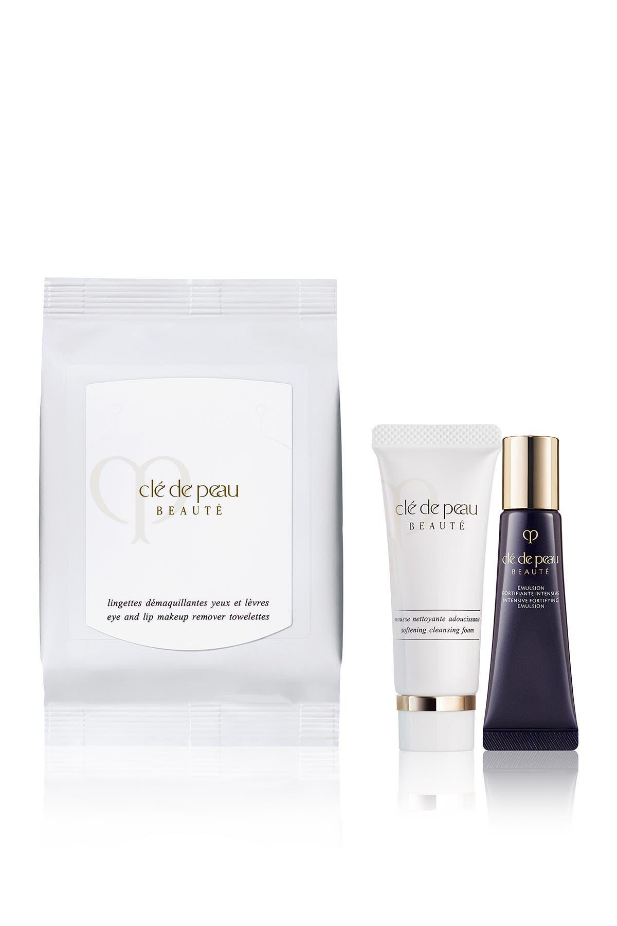 Image of CLE DE PEAU Beauté Eye and Lip Makeup Remover Towelettes Set
