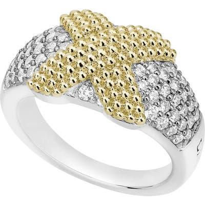 Lagos Caviar Lux Diamond Pave Ring