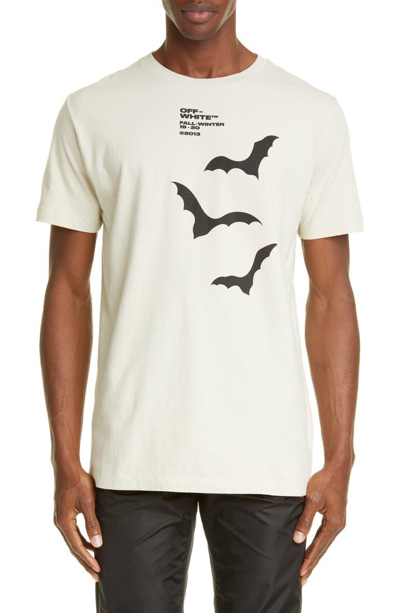 OFF-WHITE Bats Slim Fit T-Shirt, Main, color, BEIGE BLACK
