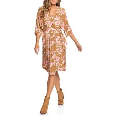 Roxy Privy Places Floral Wrap Dress, Yellow