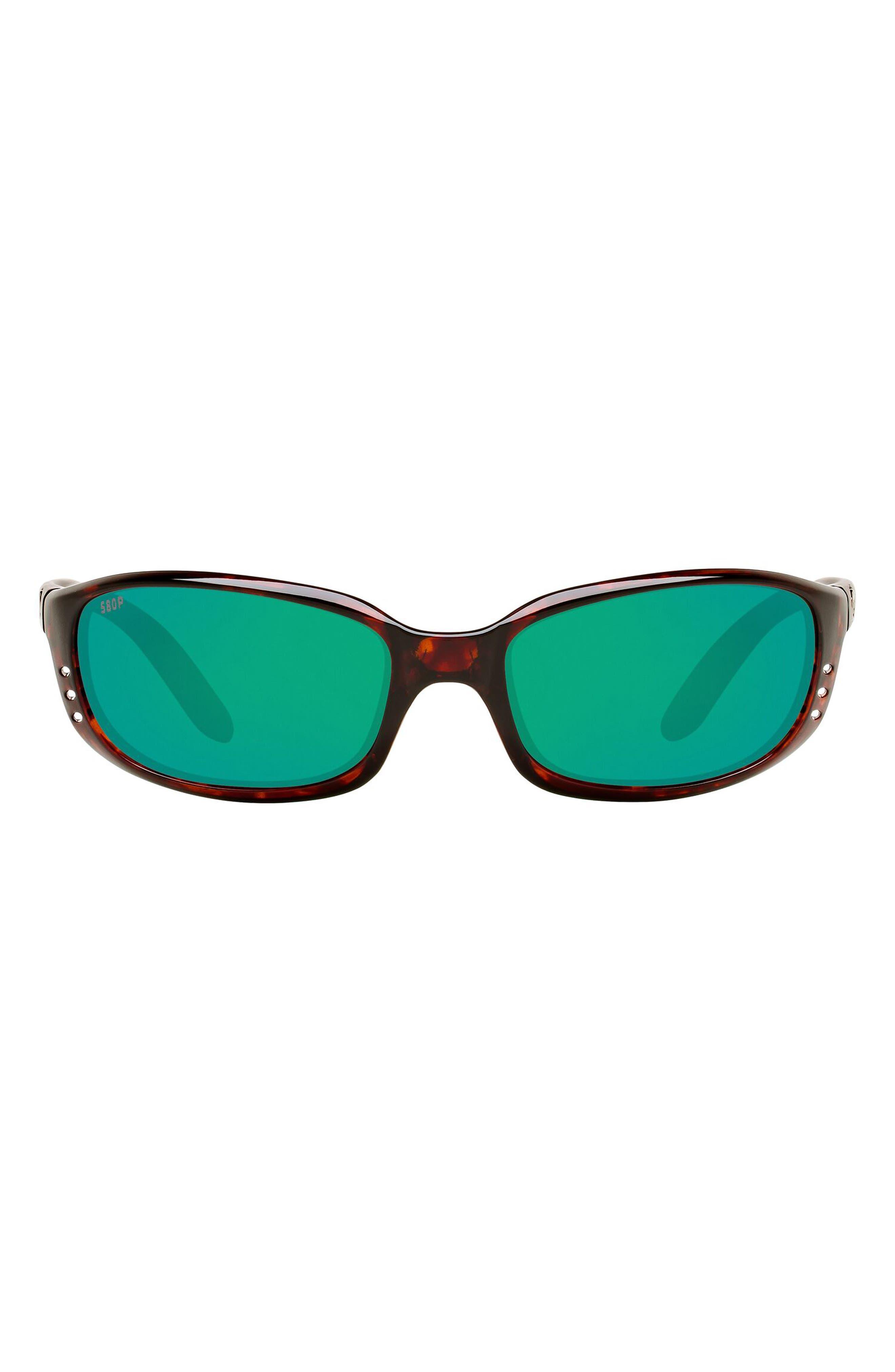 Brine 59mm Mirrored Polarized Oval Sunglasses