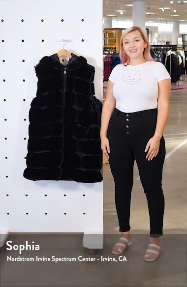 Reversible Hooded Faux Fur Vest, sales video thumbnail