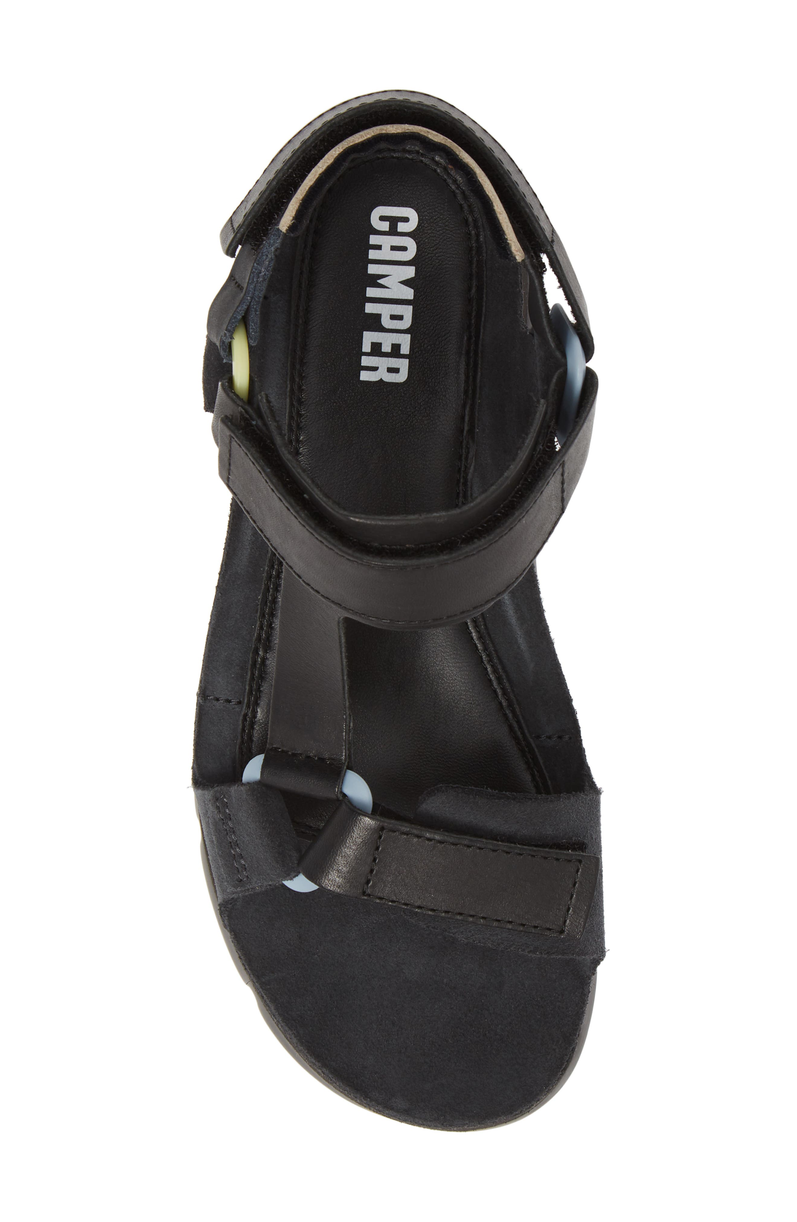 ,                             Oruga Up Platform Sport Sandal,                             Alternate thumbnail 5, color,                             BLACK