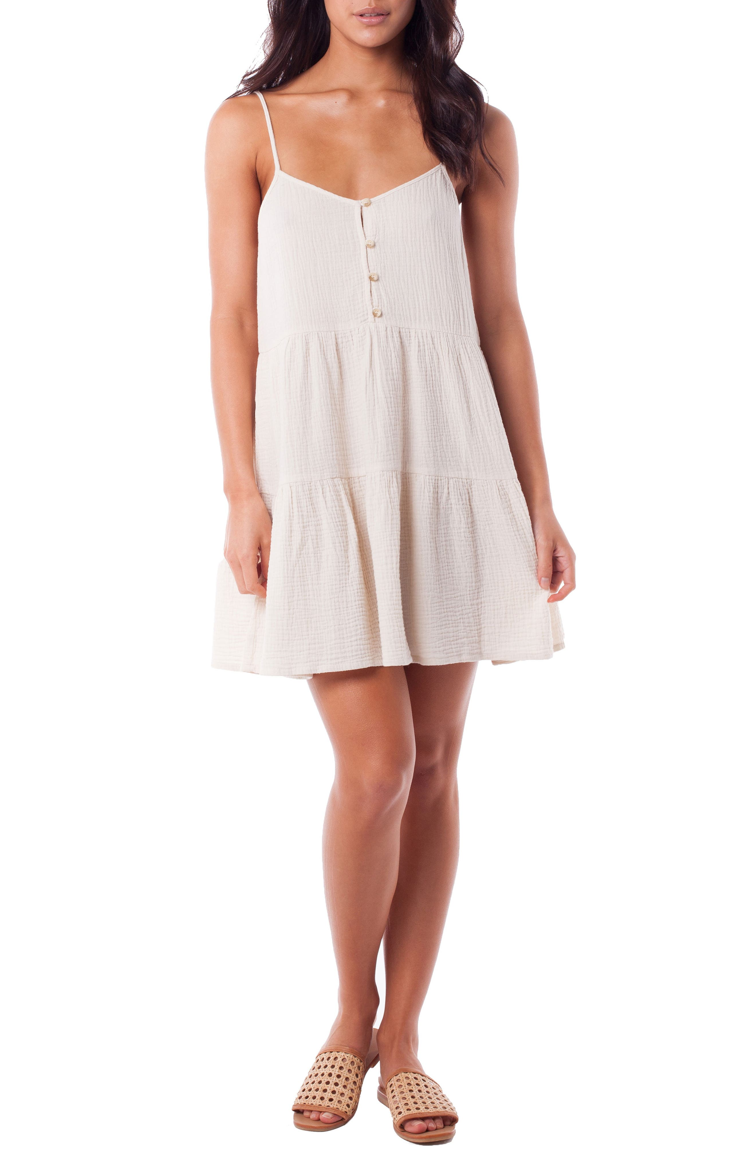 Rhythm Camile Tiered Cover-Up Dress, White