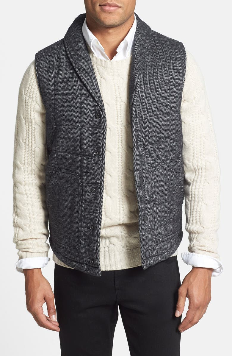 1901 Shawl Collar Puffer Vest, Main, color, 030
