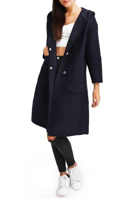 Image of Belle & Bloom Walk This Way Wool Blend Oversized Coat