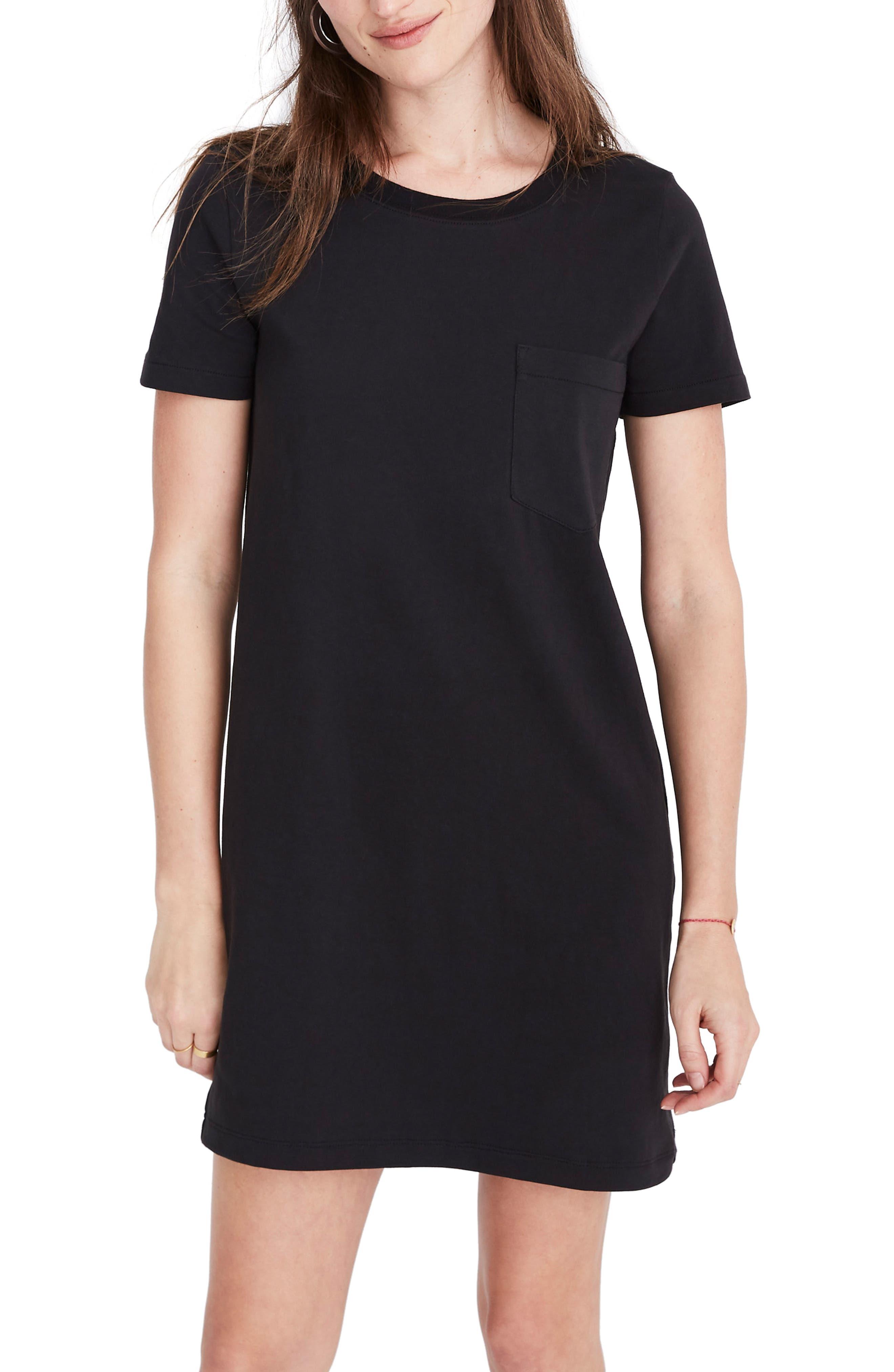 Madewell Tee Dress, Black