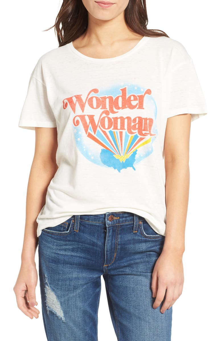 JUNK FOOD Wonder Woman Graphic Tee, Main, color, 100