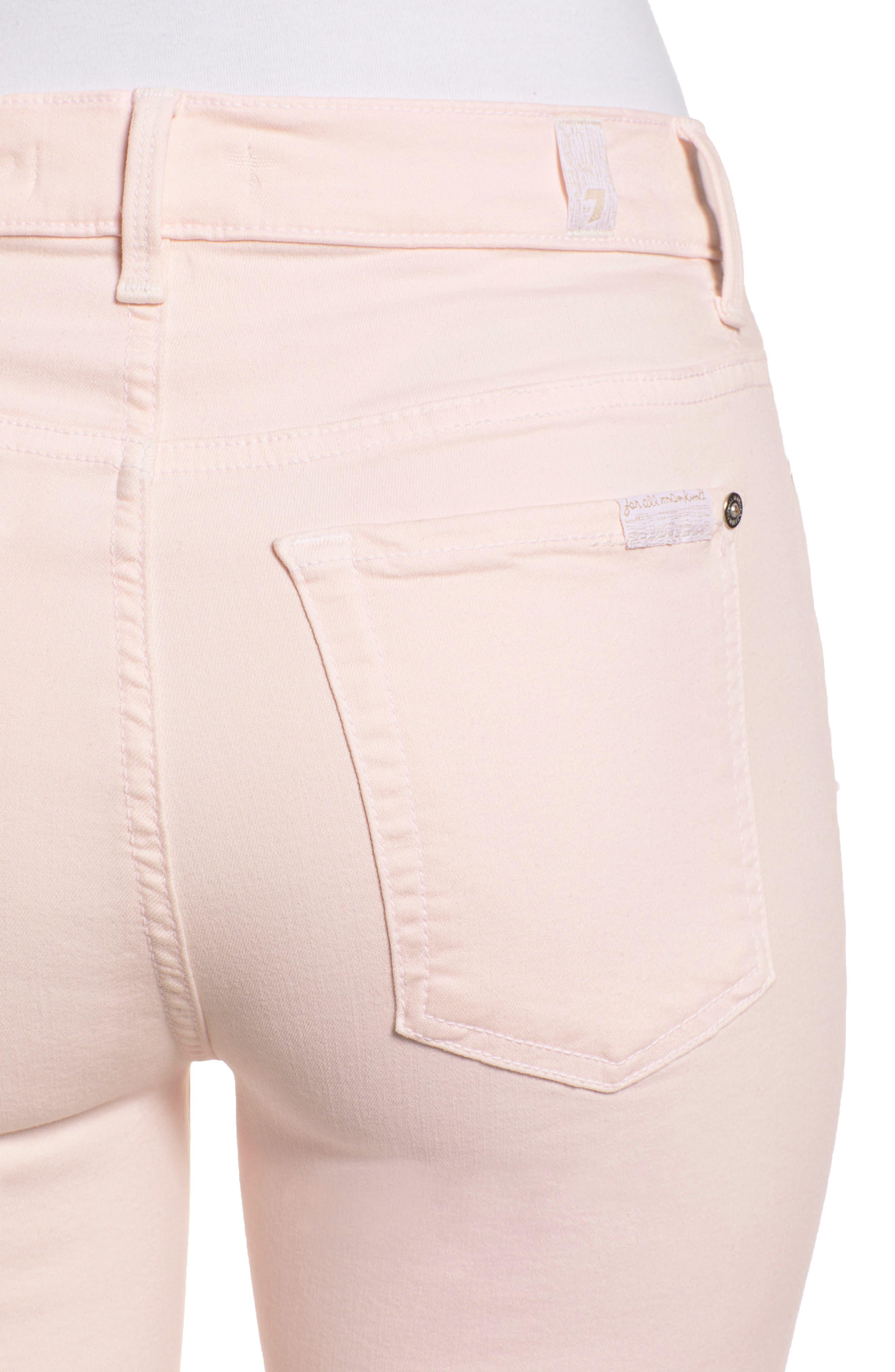 ,                             High Waist Ankle Skinny Jeans,                             Alternate thumbnail 5, color,                             PINK SUNRISE