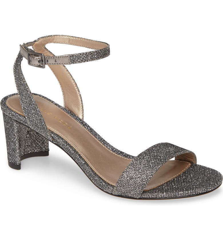 PELLE MODA Moira Crystal Embellished Sandal, Main, color, PEWTER SUEDE