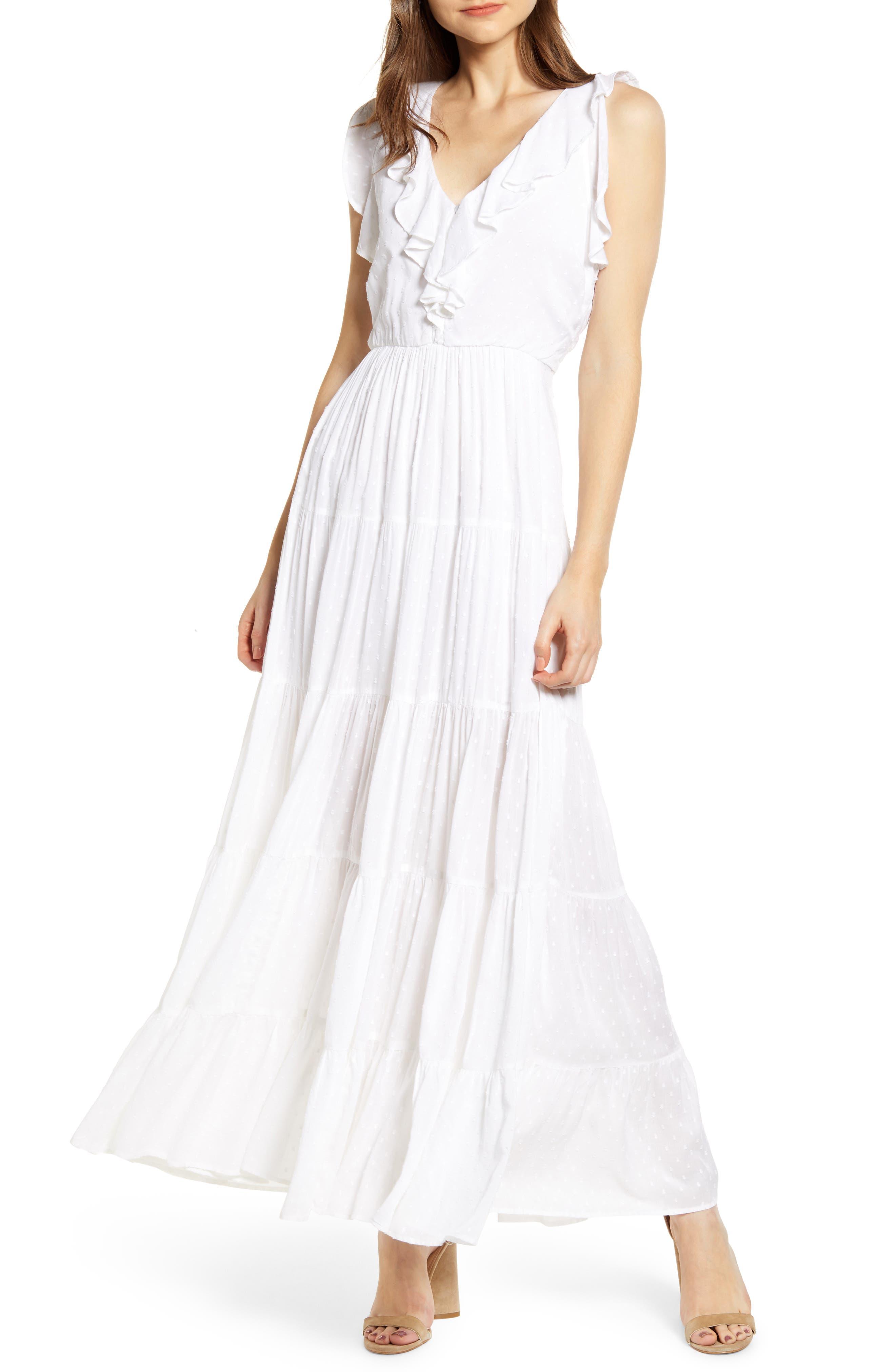Paige Capella Maxi Dress, White