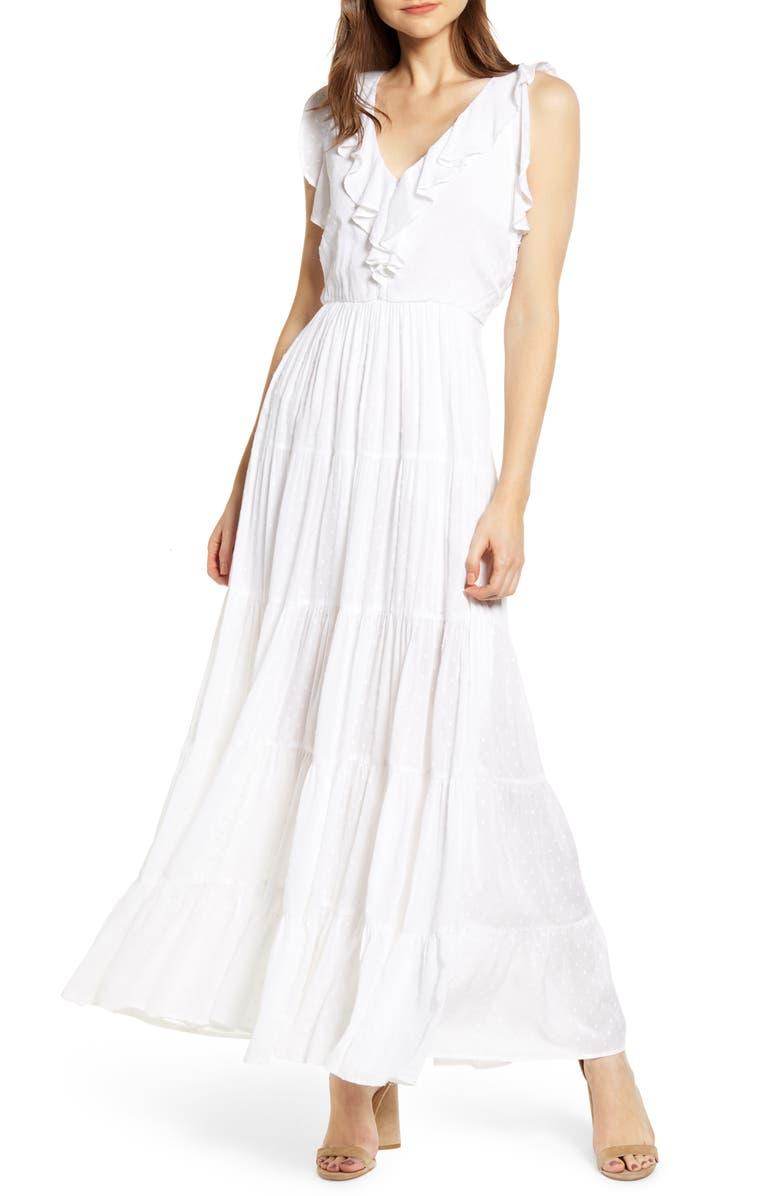 PAIGE Capella Maxi Dress, Main, color, 100